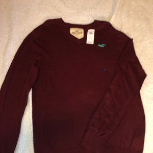 Burgundy Hollister Sweater